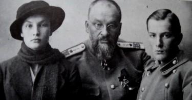 Св. Е.С. Боткин с детьми Глебом и Татьяной
