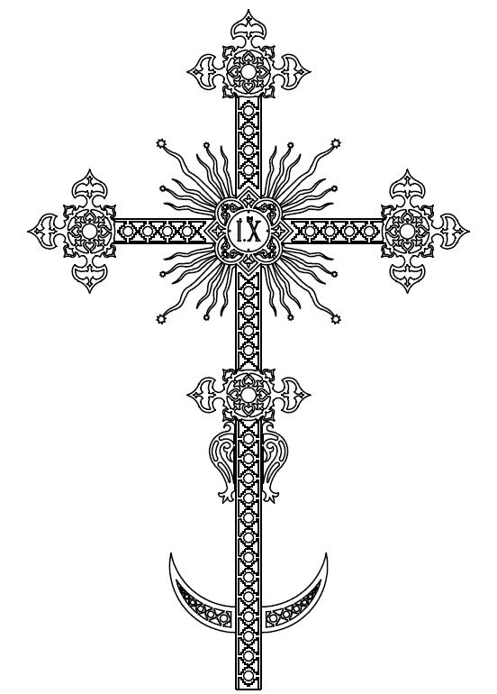 Макет крестов на купола