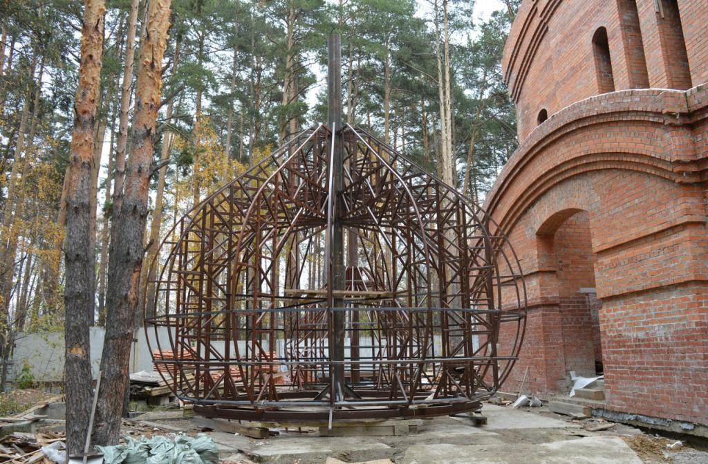 Сборка каркаса большого купола