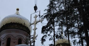 Установки куполов и крестов