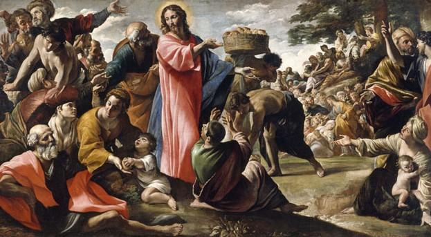 чудо насыщения пятью хлебами