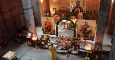 Воскресная Литургия в новом храме святителя Луки Крымского