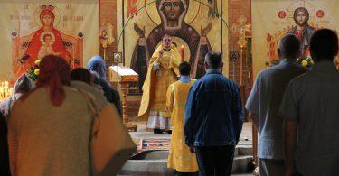 Литургия в храме святителя Луки Крымского