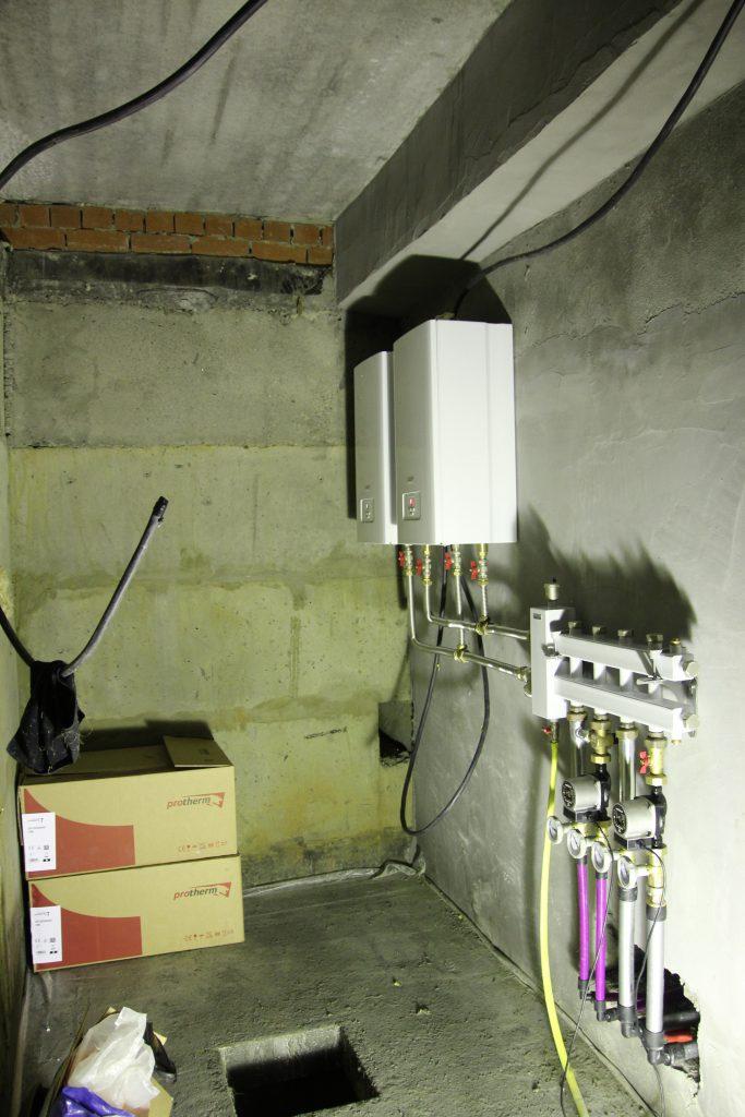 Закончен монтаж системы отопления