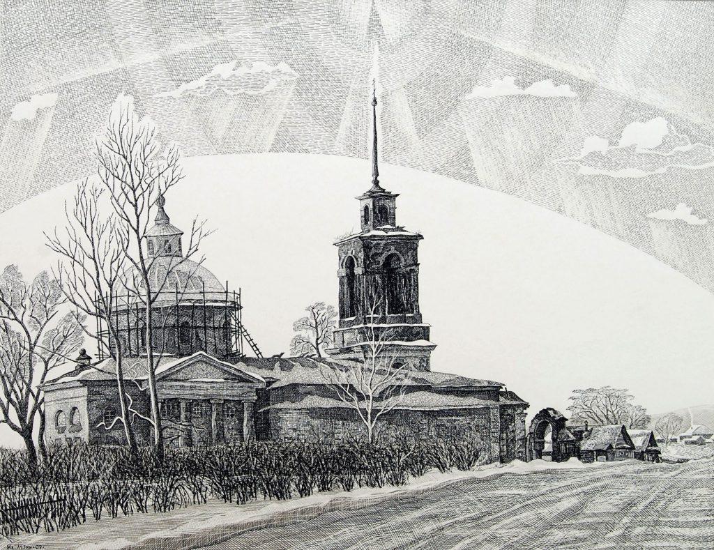 Христорождественская церковь XIX в. В селе Липовском Режевского района. 2005.