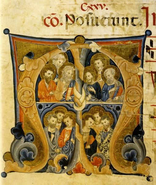 12 Апостолов (книжная миниатюра, XIII век)
