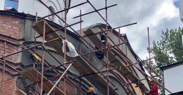 оштукатуривание стен храма