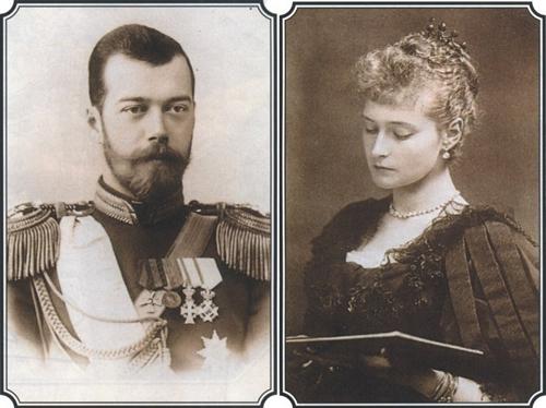Царь Николай II с Царицею Александрой